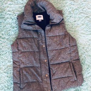 Grey winter old navy vest